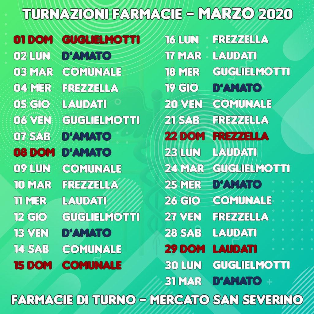 Farmacie di turno a Mercato San Severino (Salerno) - Marzo 2020