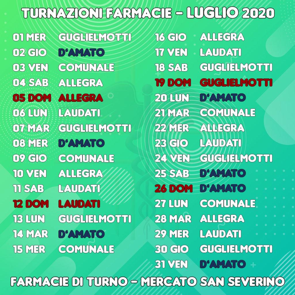 Farmacie di turno a Mercato San Severino (Salerno) - Luglio 2020