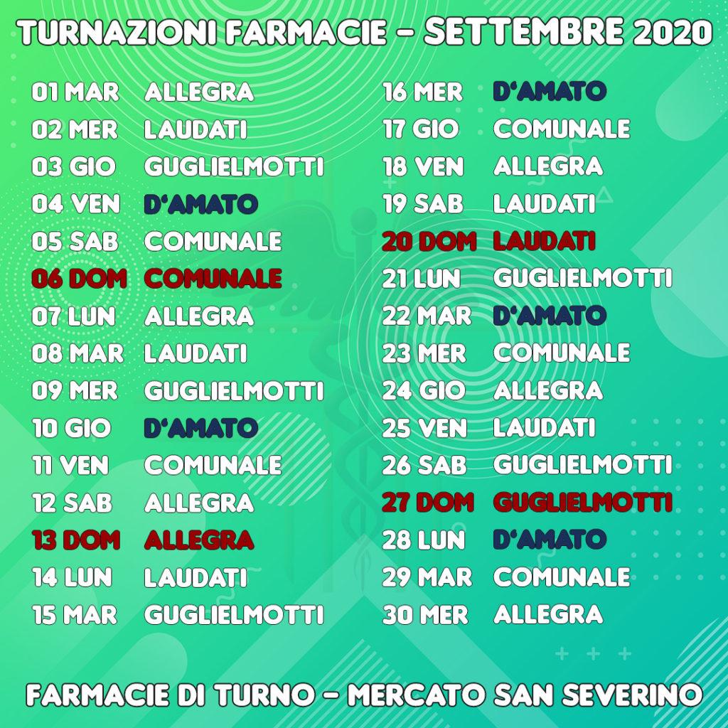 Farmacie di turno a Mercato San Severino (Salerno) - Settembre 2020