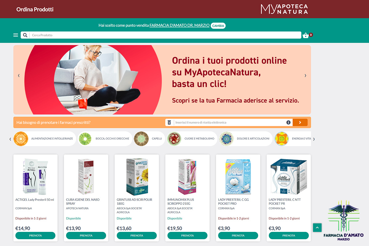 Apoteca Natura - Farmacia d'Amato